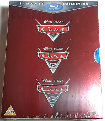 CARS TRILOGY Brand New BLU-RAY Movie Set All 3 Disney Pixar Movies 1-3 1 2 3