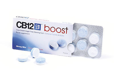 5 x CB12 Boost Sugar Free Chewing Gum - Relief From Bad Breath! BEST VALUE!!