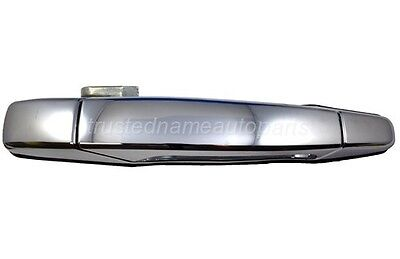 Chrome With Keyless Entry Outside Outer Exterior Door Handle Passenger Front ABS