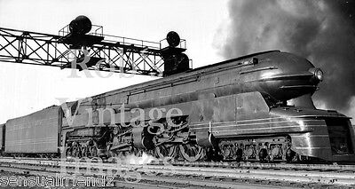 Pennsylvania Railroad S-1 Bullet 6-4-4-6 Train Steam photo print 1939 Art Deco