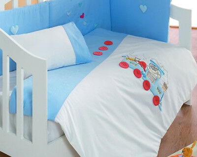 Luxury Infant Quilted Applique Duvet/Bumper/Fleece Blanket