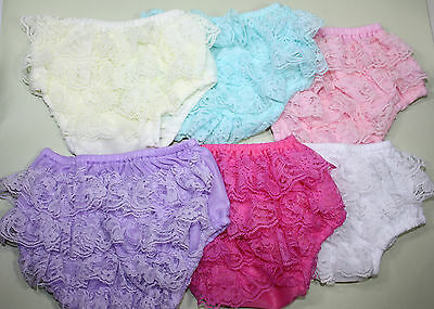 Baby Toddler Satin Ruffle Bloomers,Frilly Nappy Cover LACE Panties, 6 colours