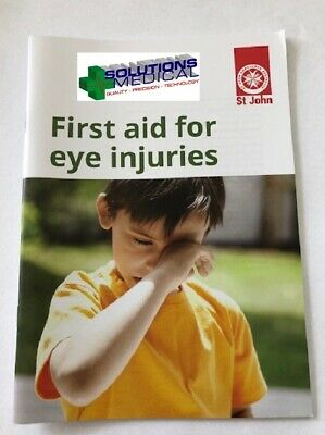First Aid St Johns Emergency Information Guide For Eye Injuries Cpr Book Drsabcd