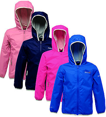 Regatta Lever Kids Jacket Girls Boys Waterproof Breathable Packaway RKW119