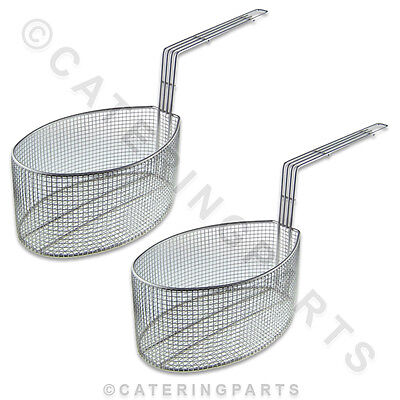 2 X Oval Shaped Fryer Baskets Suitable For Valentine Pension 1 2 Electric Fryers