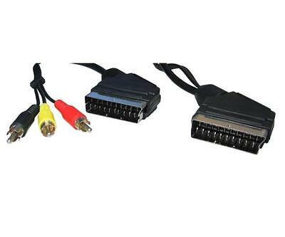 GE442  SCART a SCART Cable + Audio Video 3 RCA - Cable 1.5Metres