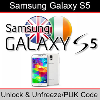 Samsung Galaxy S5 Unlock / PUK Code (ALL UK and Ireland Networks Supported)