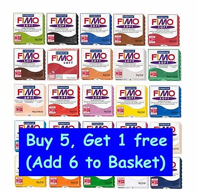 FIMO Soft Polymer Modelling Clay Oven Bake - Buy 5 Get 1 Free