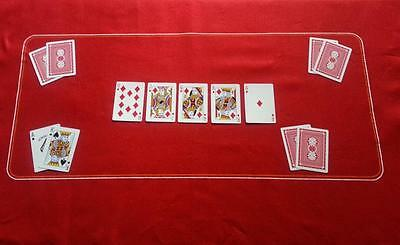Red Poker Felt Baize - Texas Hold 'em - New - Free Shipping - Clearance Price