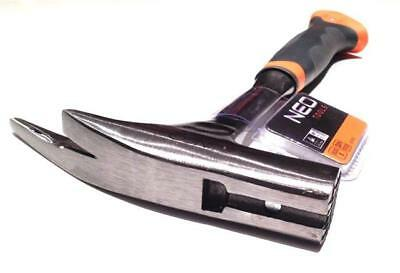 Neo professional solid head roofing hammer with magnetic nail holder (Neo 25-002