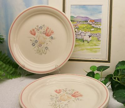 Lot of 4 Corelle Corning Ware FRENCH GARDEN Floral Luncheon Lunch Plates   RARE