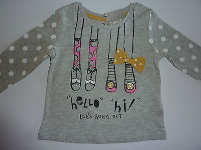 NEXT Really Cute LET'S HANG OUT Long Sleeve Top 3-6 Months NWT