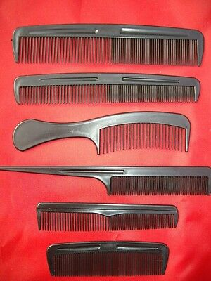 2X Choice Of Black Hair Combs Moustache Sideburns Plastic Pocket Mens Ladies