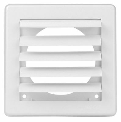 "Air Vent Grille Cover 5 Gravity Flaps 150x150mm (6x6"") WHITE Ø100mm (4"") Ducting"