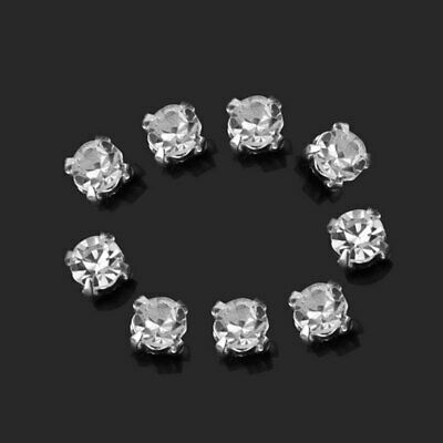 3mm 200pcs Charm Sparkle Clear Crystal Rhinestones Sew on Craft Dress Making New