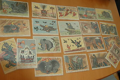Dumbo 1941 Walt Disney 1964 20 French Vintage Postcards Cp