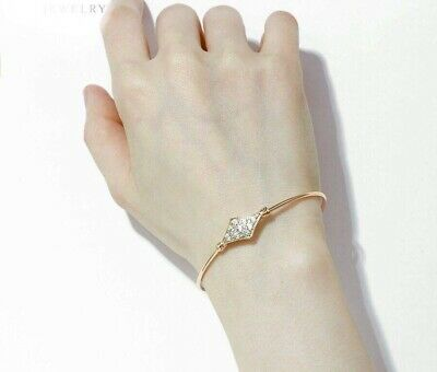 """9ct 9K """"GOLD Filled"""" Baby Toddler Charms & Bell Bangle Bracelet 42mm. Openable"""