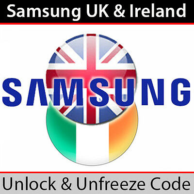 Samsung Mobile UK & Ireland Unlock & Unfreeze Code