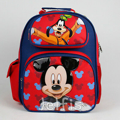"""Disney Mickey Mouse 12"""" Backpack - Goofy Suprise Small Boys Toddler Book Bag"""