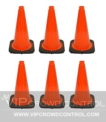 "JBC Safety Plastic Revolution Series Traffic Cone 6 PCS Set, 18"" HT, RS45015C"