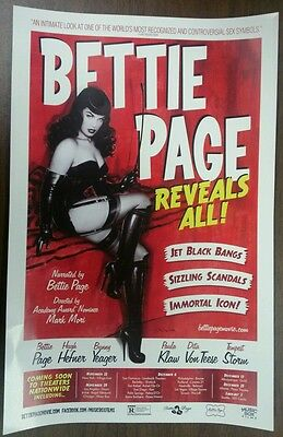 Mini Movie Promo Poster Bettie Page Reveals All! Documentary