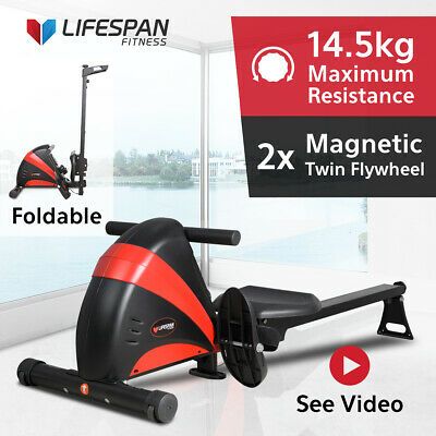Genuine Lifespan Fitness® Rowing Machine #Exercise Rower Fitness Cardio Strength