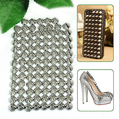 100pcs Clous/rivets de balle PUNK studs Argenté 8x10mm customisation DIY
