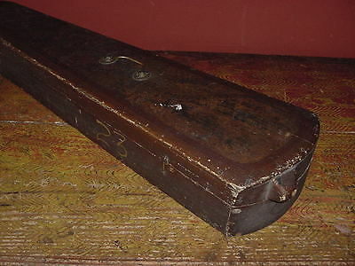Antique  Violin Case Paint Decorated 1850 Full Size