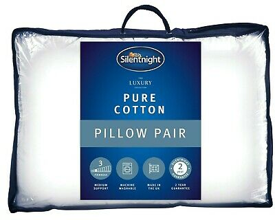 Silentnight Luxury Egyptian Cotton Pillow With Hollowfibre Filling - 2 Pack