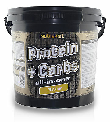 Nutrisport Protein And Carbs - All In One - 5Kg All Flavours Whey Creatine Bcaa