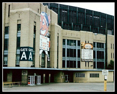 Cleveland Municipal Stadium Photo 8X10  1960 Indians Browns Bob Feller Jim Brown