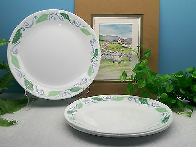 "Lot of 4 Corelle Corning Ware SPEARMINT 10 1/4"" Dinner Plates Excellent"