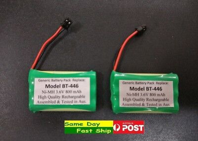 2x Rechargeable Battery for Uniden BT-446 BT-909 BT-750  length: 5 cm AU Local