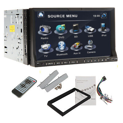 """New Ouku 7"""" Double 2 Din In-Dash Touch Car Stereo DVD CD Player Radio BT Ipod TV"""
