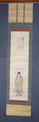 Super Rare Japanese Antique Edo Period Buddhist Hanging Scroll Temple Zen