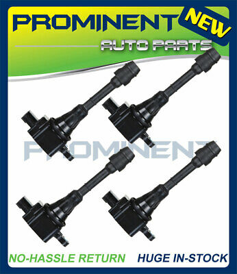 UF350 4PCS Ignition Coils For 2002-2008 Nissan X-Trail Sentra Altima 2.5L L4