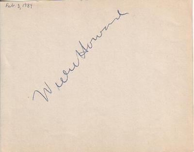 Willie Howard Autographed Album Page 1934 Famed Early Comical Movie Actor D.49