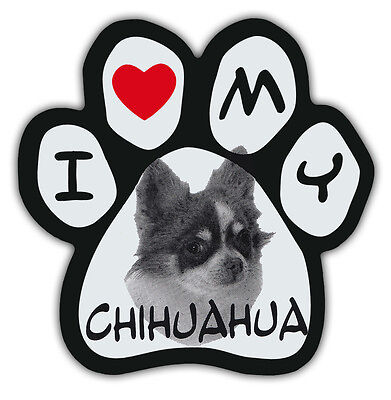 Picture Paws | Dog Paw Shaped Magnets: I LOVE MY CHIHUAHUA | Car Magnet