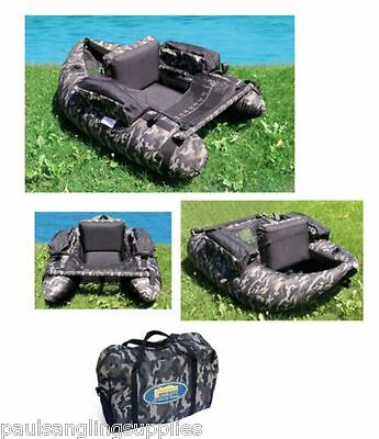 Lineaeffe Camo Pattern Belly Boat( kick boat, float tube) for game,trout fishing
