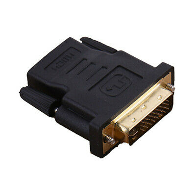Gold Plated HDMI Female to DVI Male 24+5 Cable Converter Adapter Plug Black