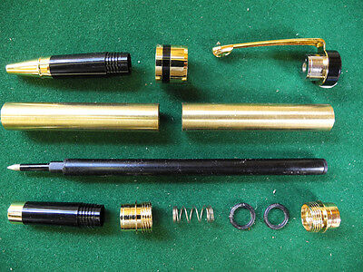Woodturning  CLASSIC Roller Ball Pen Kit in Gold