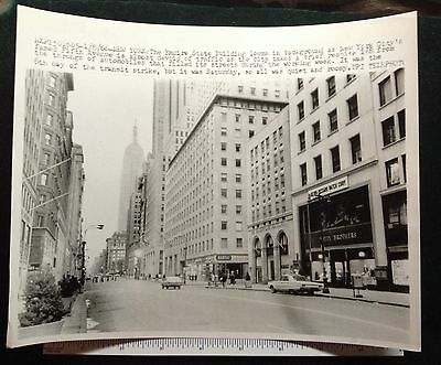 NEW YORK CITY TRANSPORTATION STRIKE 5th ave 1966 #8709