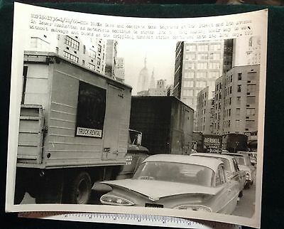 NEW YORK CITY TRANSPORTATION STRIKE 8th street an 4 th ave 1966 #8710
