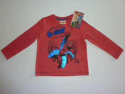 SPIDERMAN Long Sleeve Red Top NWT