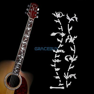 Tree Of Life Guitar Bass Inlay Sticker Fretboard DIY Decoration Markers Silver