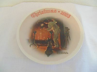 """Norman Rockwell""""waiting For Santa"""" Ltd. Edition 2003 Christmas Collector Plate"""