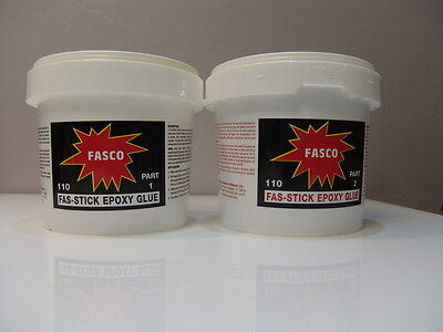 FASCO 110 EPOXY GLUE, 2 parts, 1/2 Gallon kit makes 64oz of EPOXY GLUE