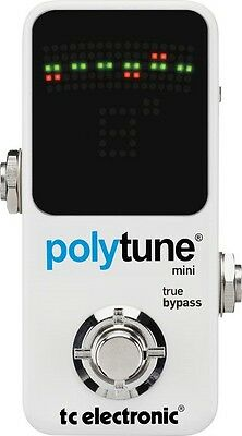 TC Electronic Polytune 2 Mini Chromatic Pedal Polyphonic Guitar Tuner New