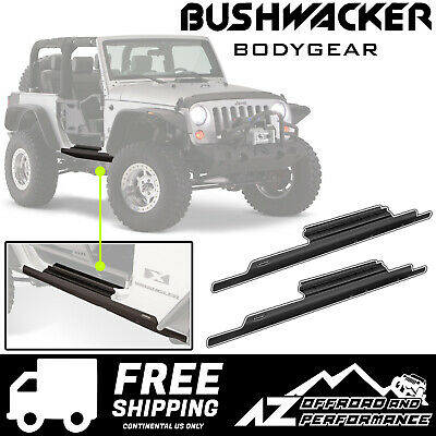 Bushwacker Door Sill & Rocker Panel Trail Armor for 07-18 Jeep Wrangler JK 2 Dr