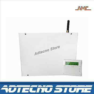 AMC ELETTRONICA - Kit antifurto centrale wireless R400 (40+8) + Tastiera KRADIO